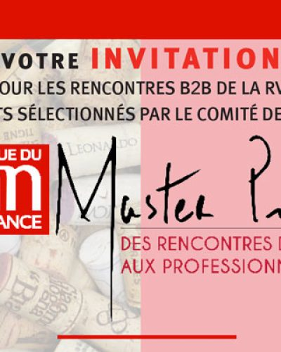 Invitation Master Pro RVF à Paris