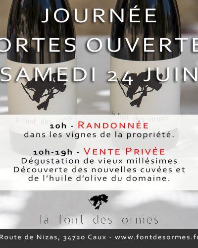 24 juin –Portes Ouvertesà la Font des Ormes 10h-19h