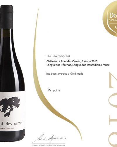 Decanter Wine Awards : 95 pts Gold Medal Basalte 2015