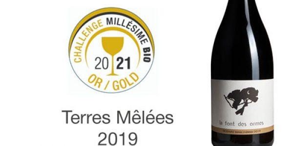 Terres Mêlées 2019 Médaille d'Or au concours Mondial du vin Bio