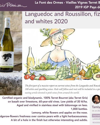 Terret Bourret 2019 Tasting Notes by Jancis Robinson
